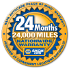 Official Napa AutoCare Center: 24 months, 24,000 miles nationwide warranty